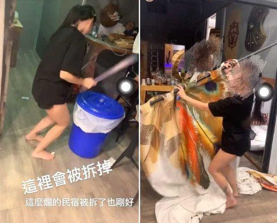 <p>Social media influencer Wen-yo is accused of trashing a bed and breakfast after a night of partying. (Photo courtesy of 爆料公社/Facebook)</p>