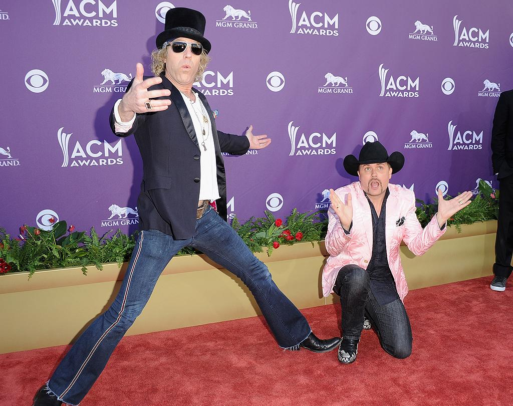"<p class=""MsoNormal"">Big Kenny and John Rich, also known as Big and Rich, clowned around on the red carpet.</p>"