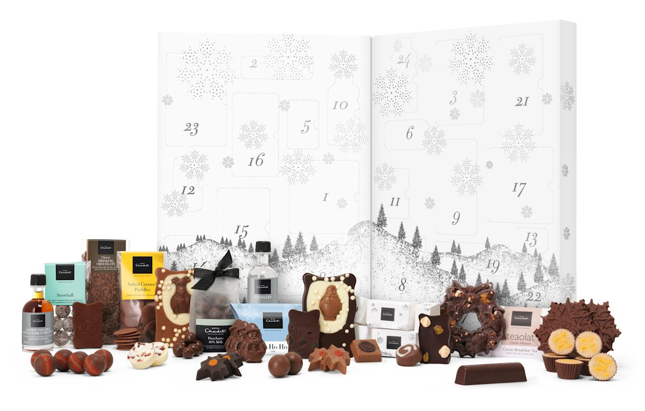 """<p>The ultimate calendar for any chocolate lover, Hotel Chocolat's biggest release this year is filled to the brim with cocoa-infused goodies from salted caramel vodka to pralines and treacle tarts.<br /><a rel=""""nofollow"""" href=""""http://www.hotelchocolat.com/uk/large-advent-calendar.html#start=4""""><i>Hotel Chocolat, £68</i></a> </p>"""
