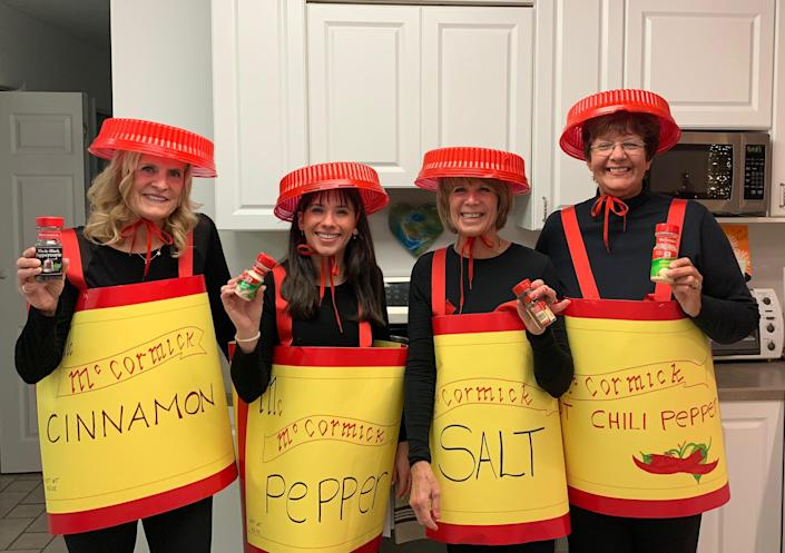 The McMullin family dressed as spice on TODAY (Courtesy of the McMullin family)