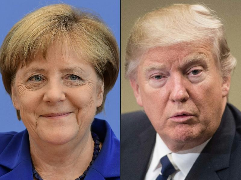 German Chancellor Angela Merkel will meet US President Donald Trump for the first time on Tuesday