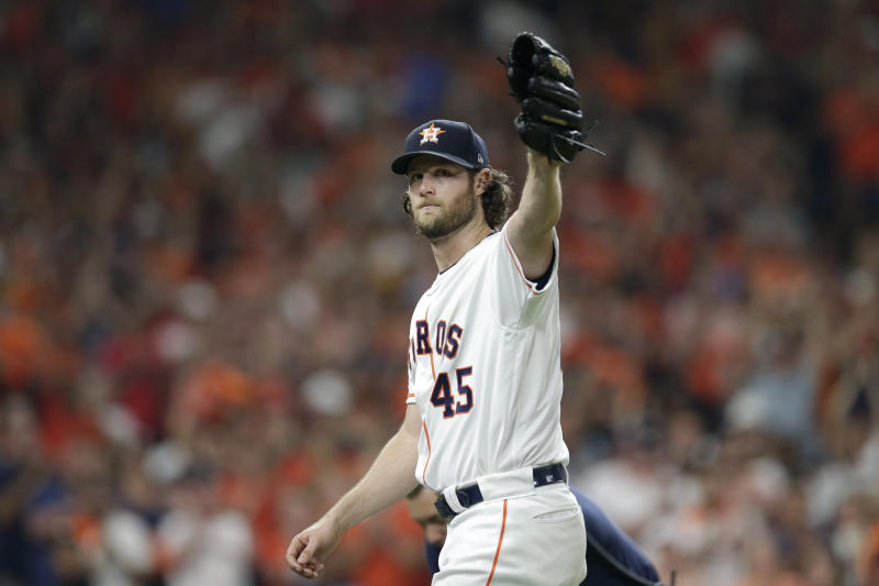 LEADING OFF: Cole, Astros host Rays for spot in ALCS vs NYY