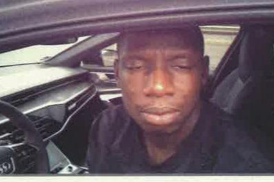 <p>Abdoulaye Doucouré when he was  pulled over in an Audi when caught speeding at 102mph</p> ( )