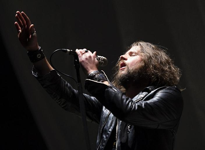 Jay Buchanan, lead vocals for Rival Sons, performs at Madison Square Garden on February 25, 2016 in New York (AFP Photo/Don Emmert )