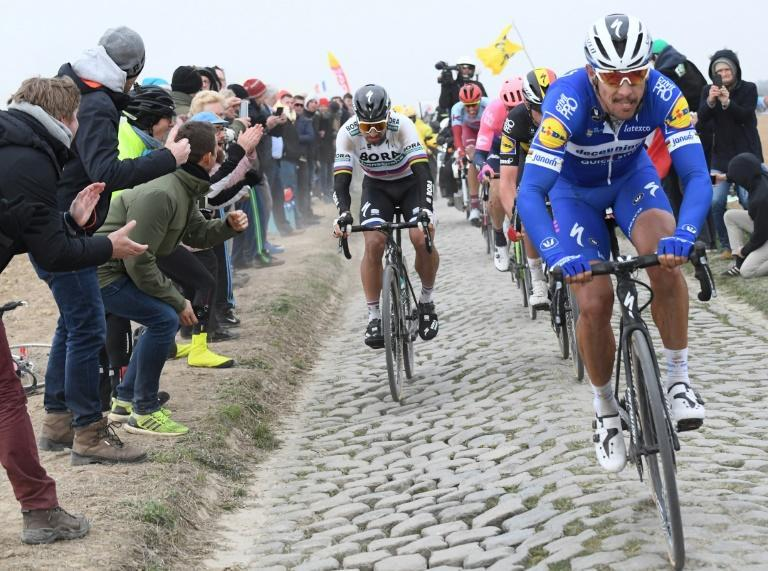 Philippe Gilbert and Peter Sagan at the 2019 edition (AFP/Stephane MANTEY)