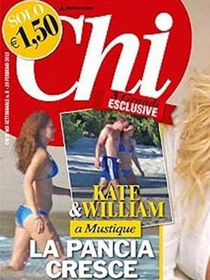 Chi Magazine cover with pregnant Kate Middleton