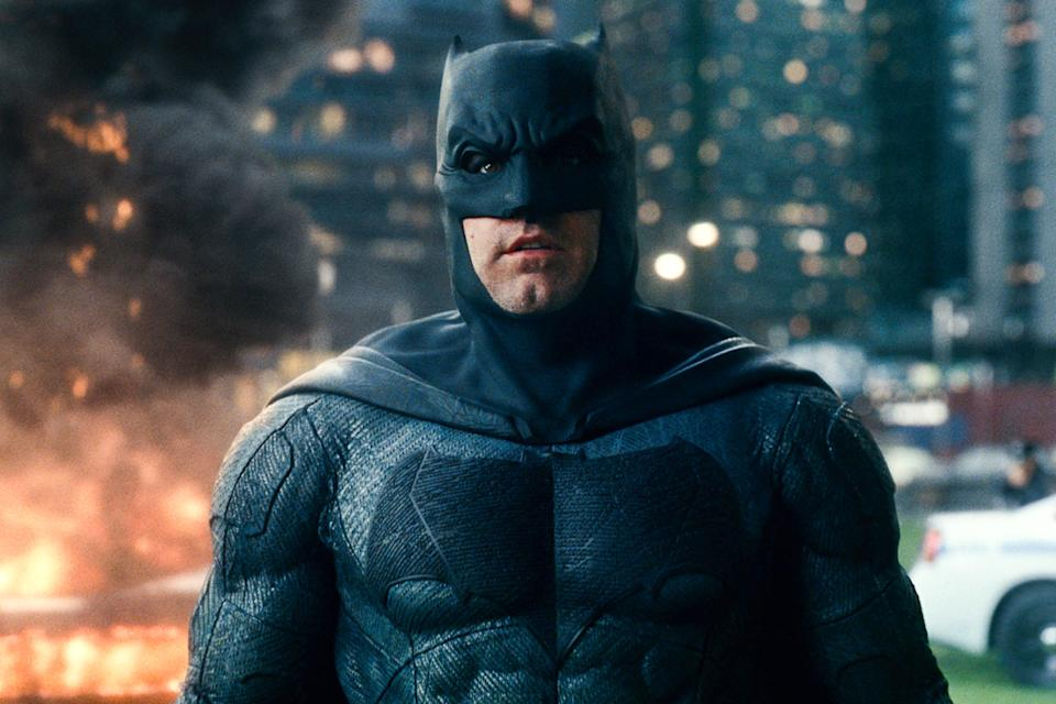 Ben Affleck as Batman in the 2017 team-up film 'Justice League'. (Credit: Warner Bros Pictures)