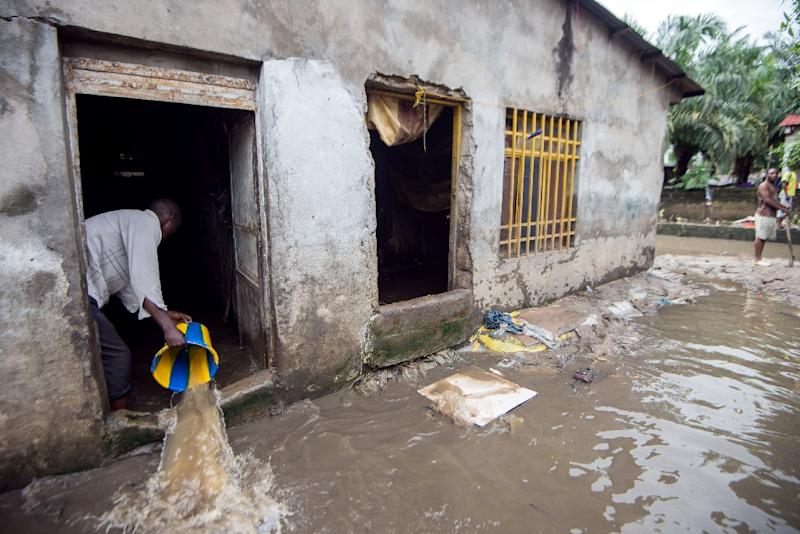 Most of the deaths from the recent floods occurred in the city's particularly impoverished southern and eastern districts, notably along the banks of the giant Congo river Torrential rains and flooding have left 31 people dead and 20,000 families homeless in less than three weeks in the Democratic Republic of Congo's capital, Kinshasa, city authorities said. (AFP Photo/Junior Kannah)