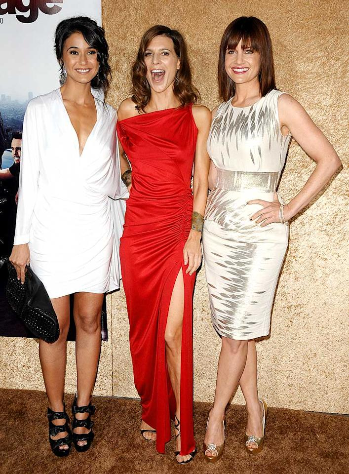"""""""Entourage"""" beauties Emmanuelle Chriqui, Perrey Reeves, and Carla Gugino wowed on the red carpet in their glamorous gowns. Jason LaVeris/<a href=""""http://www.filmmagic.com/"""" target=""""new"""">FilmMagic.com</a> - June 16, 2010"""