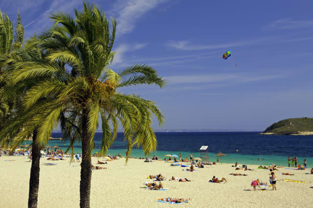 People at the beach. Magaluf