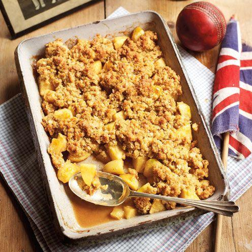 """<p>Everyone loves crumble topping, and this chewy flapjack version is a dream.</p><p><strong>Recipe: <a href=""""https://www.goodhousekeeping.com/uk/food/recipes/a537036/flapjack-crumble/"""" rel=""""nofollow noopener"""" target=""""_blank"""" data-ylk=""""slk:Flapjack apple crumble"""" class=""""link rapid-noclick-resp"""">Flapjack apple crumble</a></strong></p>"""