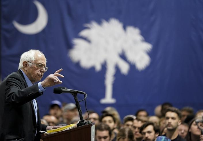 "Bernie Sanders campaigning in February for South Carolina votes he did not win. <span class=""copyright"">(Drew Angerer / Getty Images)</span>"
