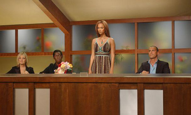 PHOTO: Twiggy, J. Alexander, Tyra Banks and Nigel Barker serve as the panel of judges in 'America's Next Top Model.' (CBS via Getty Images)