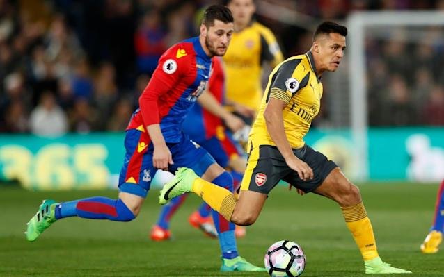 <span>All Yellow: Arsenal's bus was late and they made a sluggish start v Palace</span> <span>Credit: Getty </span>