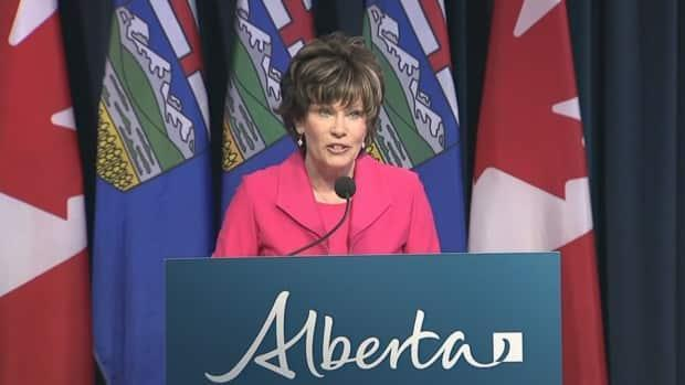 Energy Minister Sonya Savage said there will be no exploration for coal on Category 2 lands while a public consultation is underway on a new coal policy.  (Alberta Government Pool Feed - image credit)