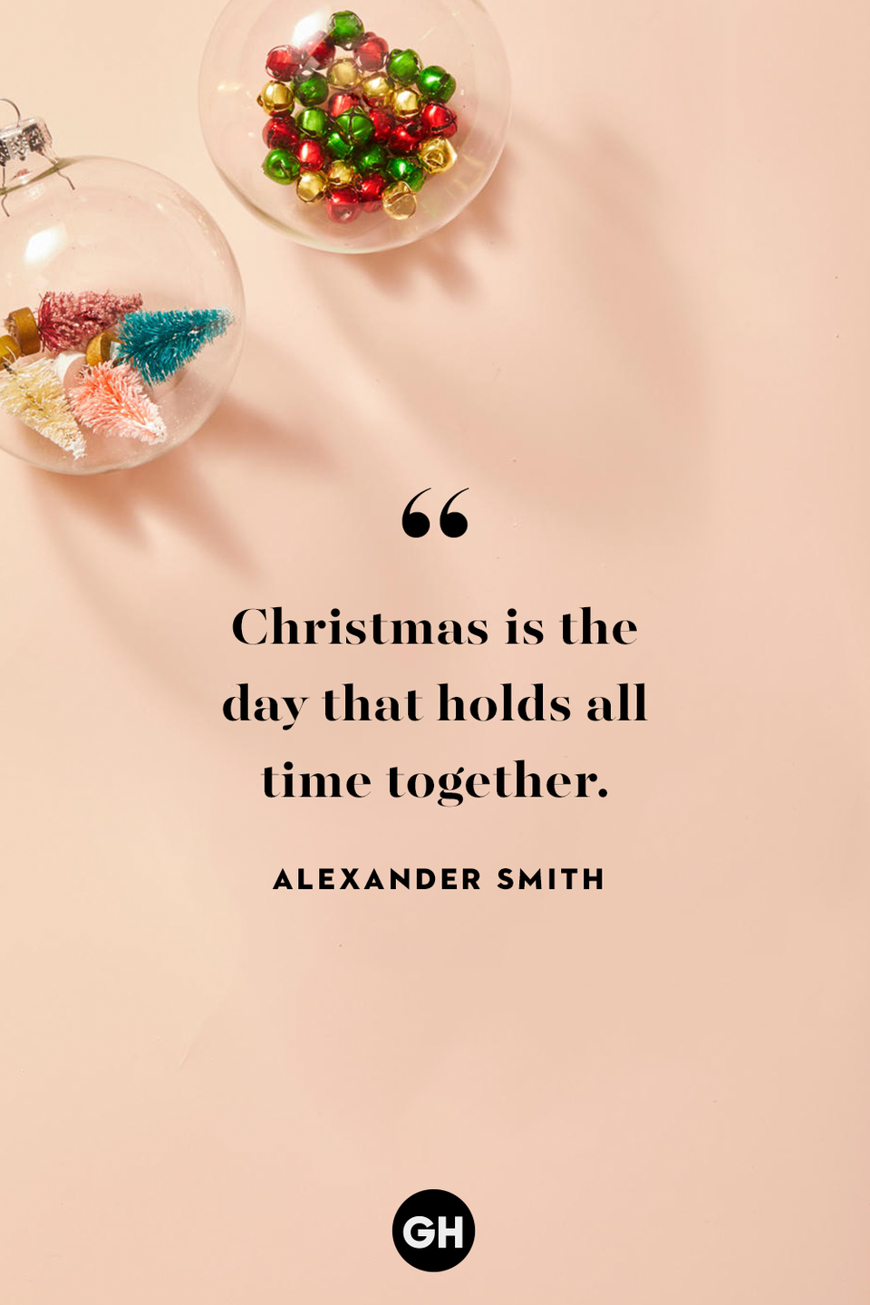 <p>Christmas is the day that holds all time together. </p>