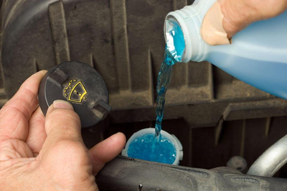 "<p>""Windshield wiper fluid can freeze during cold weather unless you use fluid designed for cold temperatures,"" says Melanie Musson, an automotive and insurance specialist with <a href=""https://www.carinsurancecomparison.com/"" rel=""nofollow noopener"" target=""_blank"" data-ylk=""slk:CarInsuranceComparison.com"" class=""link rapid-noclick-resp"">CarInsuranceComparison.com</a>. ""When snow-covered roads start melting, your windshield will get extremely dirty from the spray of other vehicle tires. The dirty spray can obstruct your view and lead to dangerous conditions if you can't clear your windshield because your wiper fluid is frozen.""</p>"