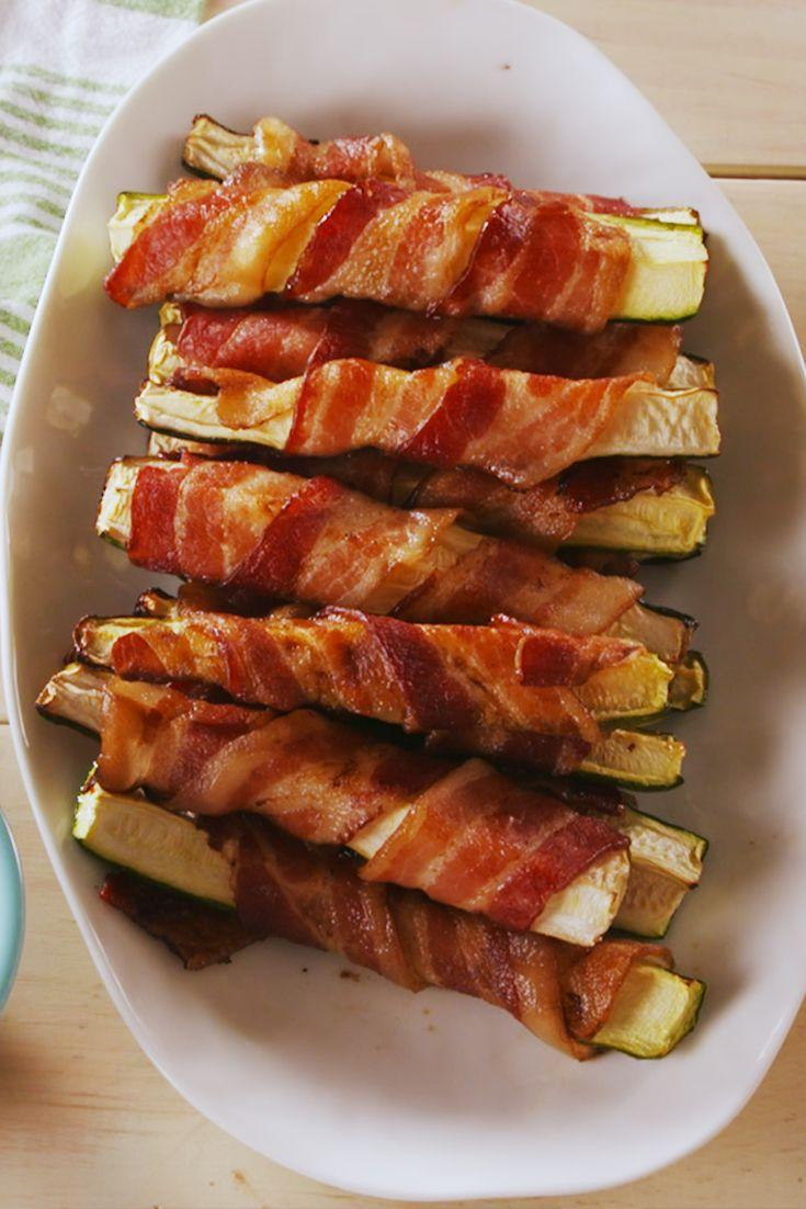 "<p>Anything wrapped in bacon is instantly 1,000 times better. </p><p>Get the recipe from <a href=""https://www.delish.com/cooking/recipe-ideas/a22575410/bacon-zucchini-fries-recipe/"" rel=""nofollow noopener"" target=""_blank"" data-ylk=""slk:Delish"" class=""link rapid-noclick-resp"">Delish</a>.</p>"