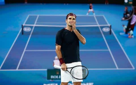 <span>Crucial times for Federer</span> <span>Credit: GETTY IMAGES </span>