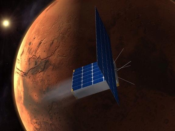 A student-led project aims to send three CubeSats time capsules like this one to Mars.