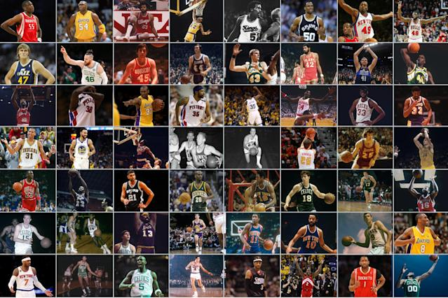 Which NBA player wore every number best?