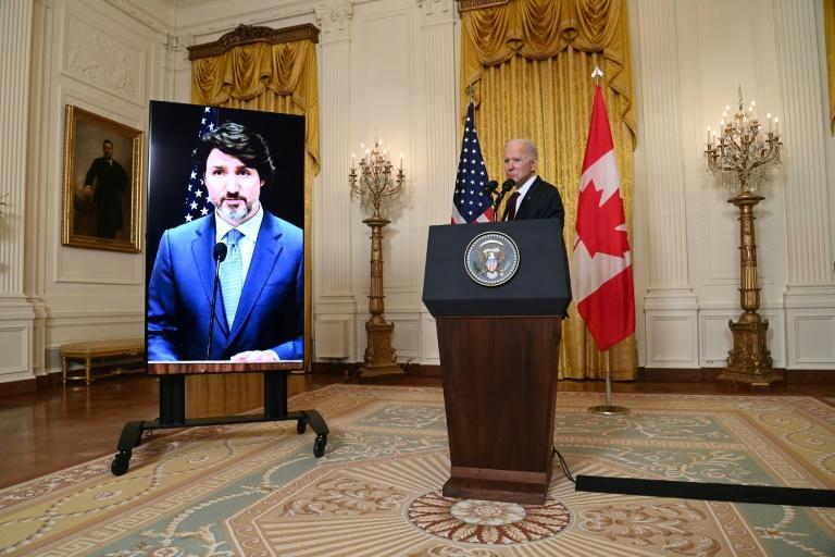 US President Joe Biden and Canadian Prime Minister Justin Trudeau met virtually to reset the neighbor's relations