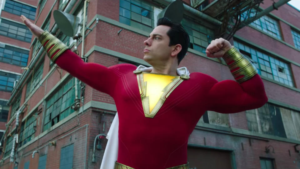 Zachary Levi in 'Shazam!'. (Credit: DC/Warner Bros)