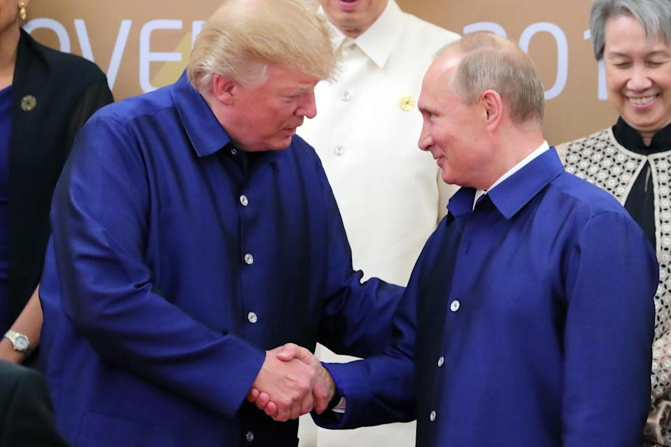 The New York Times is under fire for a cartoon depicting President Trump and President Putin as lovers. (Photo: Getty Images)