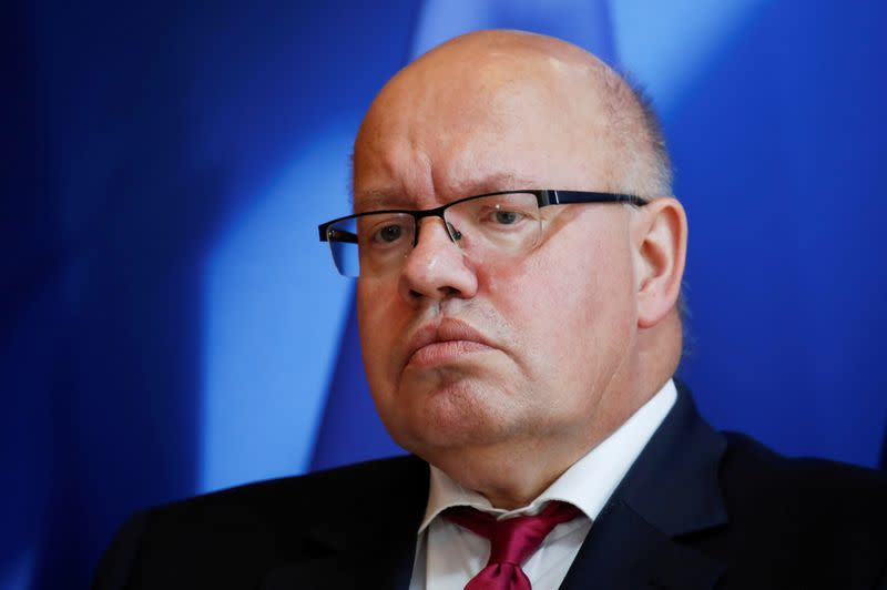 FILE PHOTO: German Economy Minister Peter Altmaier attends a joint news conference after a meeting in Paris