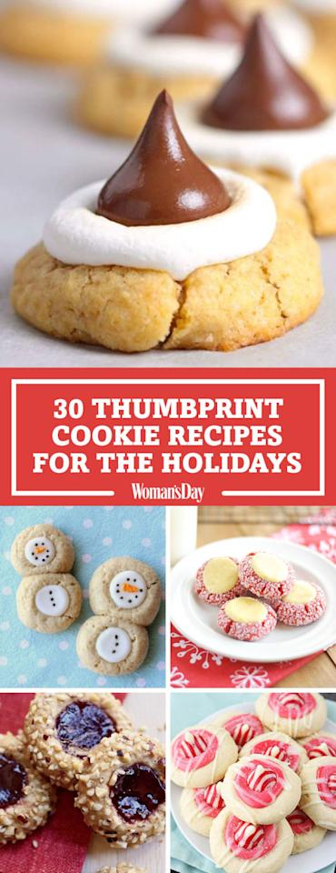 """<p><strong>Save these thumbprint cookie recipes for later by pinning this image and follow Woman's Day on </strong><a rel=""""nofollow"""" href=""""https://www.pinterest.com/womansday/""""><strong>Pinterest</strong></a><strong> for more.</strong> <span></span></p>"""