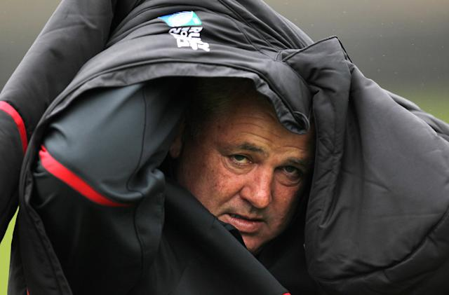 FILE PHOTO: Rugby Union - Wales Training - Newton Park, Wellington, New Zealand - October 6, 2011 Wales head coach Warren Gatland during training session Action Images via Reuters/ Jason O'Brien/File Photo