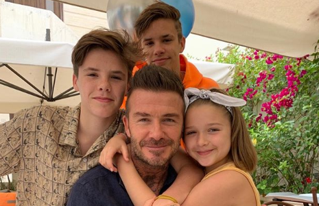 Victoria and Romeo Beckham pay sweet tribute to 'best dad in the world' to mark Father's Day