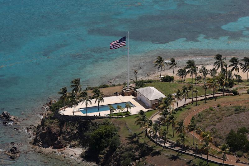 Una proprietà di Jeffrey Epstein a Little St. James Island (REUTERS/Marco Bello)
