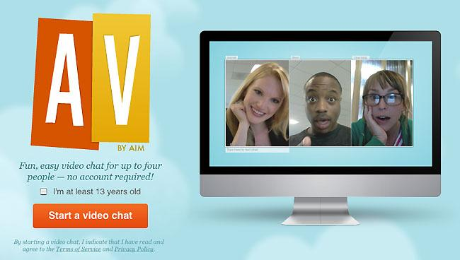 AOL AV brings no-download, Flash-based video chat