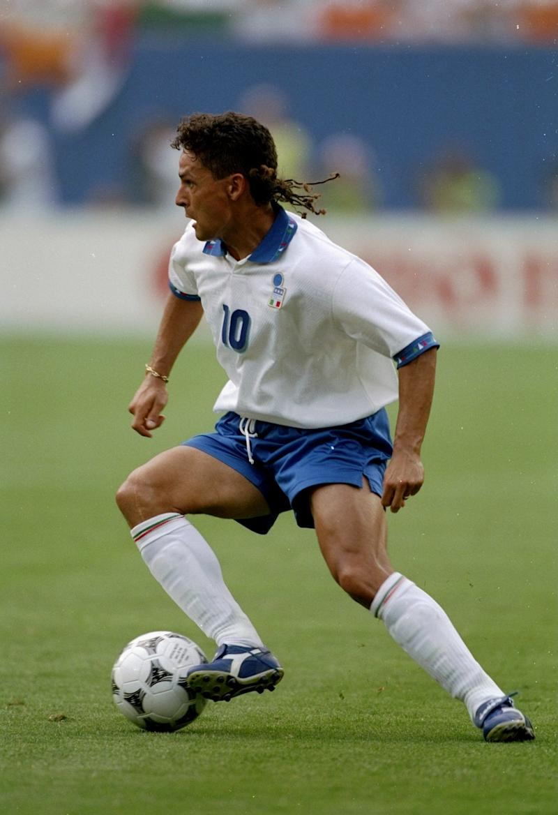 It's hard to say what Baggio will be more remembered for, his missed penalty to lose the 1994 World Cup or this rattail.