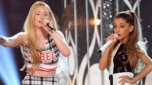 Ariana Grande and Iggy Azalea's track Problem hit the charts.