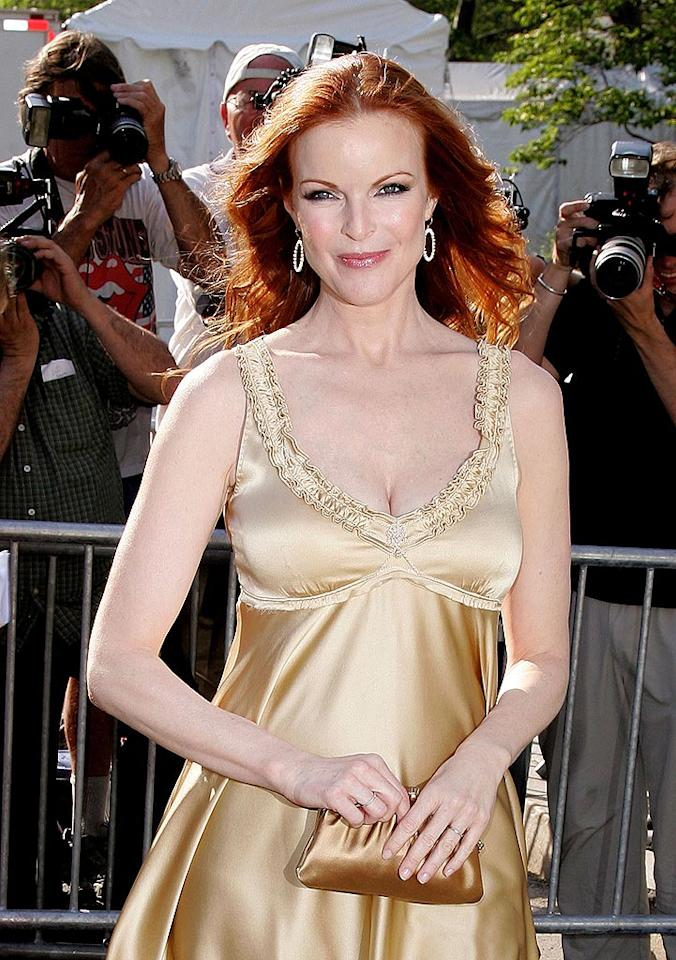 "New mom Marcia Cross still has her maternal glow. James Devaney/<a href=""http://www.wireimage.com"" target=""new"">WireImage.com</a> - May 15, 2007"