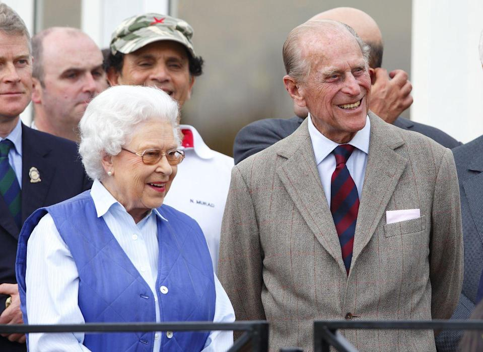 <p>All smiles at the Royal Windsor Horse Show, another of their favoured equestrian events.</p>