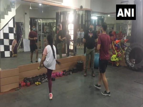 Gyms reopen in Haryana's Ambala as part of phased un-lock. (Photo/ANI)