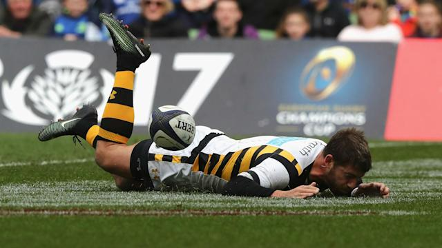 Willie Le Roux's error proved costly as Leinster ran in four tries to seal a European Champions Cup semi-final place at Wasps' expense.