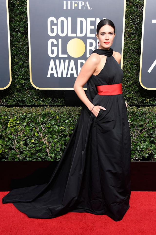 <p>The<em> This Is Us</em> actress attends the 75th Annual Golden Globe Awards at the Beverly Hilton Hotel in Beverly Hills, Calif., on Jan. 7, 2018. (Photo: Steve Granitz/WireImage) </p>