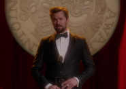 <p>One of Rachel's biggest dreams in life is to win a Tony, and the character does just that in the final moments of the series. That she is presented the award by Broadway star Andrew Rannells (playing himself) is the cherry on top. </p>
