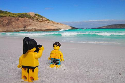 This couple may be a bit stiff in their travel selfies but regardless they've earned thousands of social media followers. Craig McCartney and his girlfriend Lindsay are known as the Lego Travellers. Everywhere they go, they pose Lego dopplegangers in front of landmarks and take a photo to post on Instagram and Facebook. Take a look at their travels... Captions: Alison Godrey/AAP