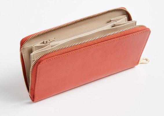 Leather Wallet - Bright Red