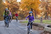 <p>POPSUGAR president and editor-in-chief Lisa Sugar started riding bikes outside with her family. She said it is a fun activity to do with her kids, and it's much more chill than the rigorous exercise you do on stationary bikes in exercise studios!</p>