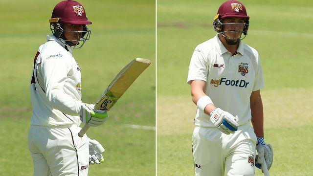 Khawaja and Renshaw are going in opposite directions. Image: Getty