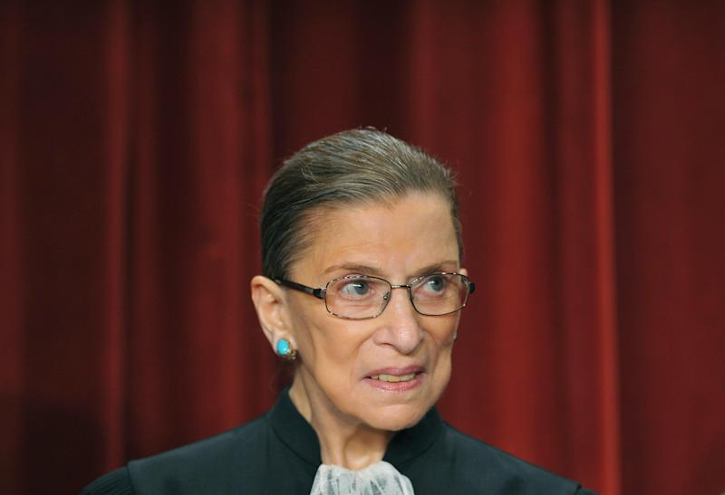 Ruth Bader Ginsburg, 85, is up and making jokes: AFP/Getty