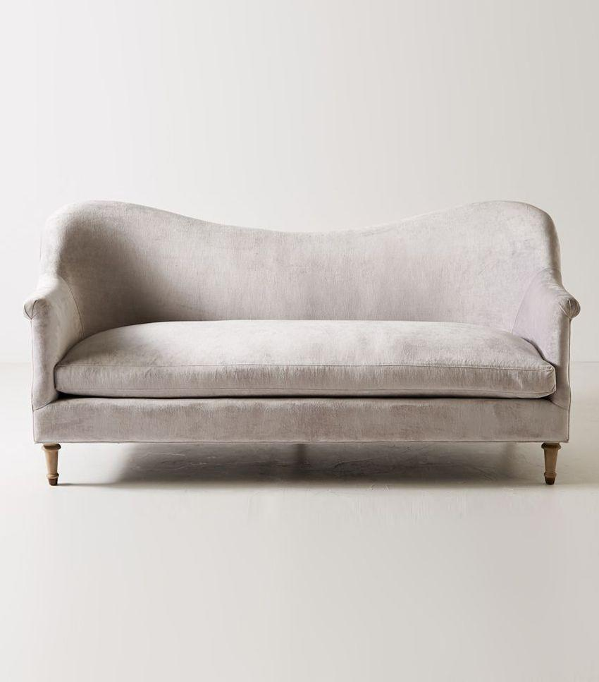 Both modern and vintage-inspired, this sofa looks luxe and sophisticated.