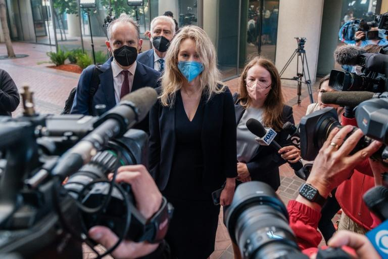 Elizabeth Holmes, the founder and former CEO of blood testing and life sciences company Theranos, arrives for the first day of jury selection in her fraud trial, outside Federal Court in San Jose, California on August 31 (AFP/Nick Otto)