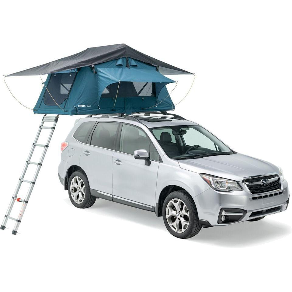 """<p><strong>Thule</strong></p><p>backcountry.com</p><p><strong>$1299.95</strong></p><p><a href=""""https://go.redirectingat.com?id=74968X1596630&url=https%3A%2F%2Fwww.backcountry.com%2Fthule-x-tepui-explorer-ayer-2&sref=https%3A%2F%2Fwww.countryliving.com%2Flife%2Ftravel%2Fg20901668%2Fcar-camping%2F"""" rel=""""nofollow noopener"""" target=""""_blank"""" data-ylk=""""slk:Shop Now"""" class=""""link rapid-noclick-resp"""">Shop Now</a></p><p>While this is definitely on the more expensive side, it's still cheaper than a hotel or RV.</p><p><strong>RELATED:</strong> <a href=""""https://www.countryliving.com/shopping/g20686471/best-camping-tents/"""" rel=""""nofollow noopener"""" target=""""_blank"""" data-ylk=""""slk:The Best Camping Tents for Every Kind of Outdoor Adventure"""" class=""""link rapid-noclick-resp"""">The Best Camping Tents for Every Kind of Outdoor Adventure</a></p>"""